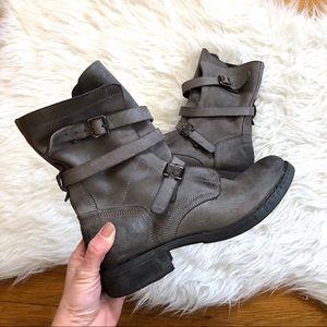 Diba   Joyce Leather Buckle Boots 8